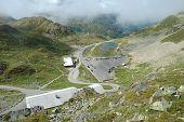 Buildings And Parking On Sustenpass In Switzerland