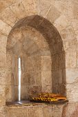 Bread On The Windowsill In Old Tower, Jerusalem