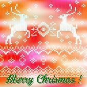 Merry christmas wool background.