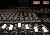 picture of recording studio  - photo of a recording studio mixing console - JPG