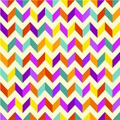 Vector Seamless Background. Geometric Pattern With Zigza Swatches Made With Global Colors - Quick &