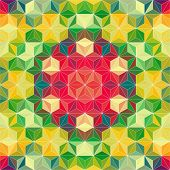 Vector Colorful Triangle Pattern