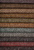 Upholstery textile materials variety shades of colors