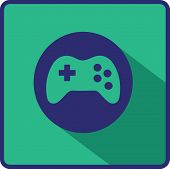 image of arcade  - Vector flat Gaming Joystick Icon - JPG