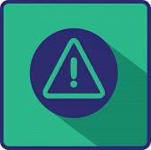 Flat Vector Warning Icon