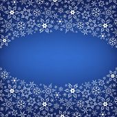 Winter Luxury Stylish Frame With Snowflakes