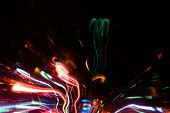 Abstract neon sparks.