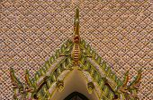 arch in the Temple of the Emerald Buddha , Bangkok Thailand