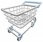 ein glänzend Warenkorb Warenkorb-Trolley-Vektor-illustration