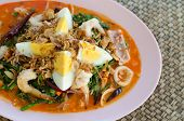pic of thai food  - Vegetable fern spicy salad Thai food - JPG
