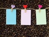 Coffee Bean Background And Clip Note