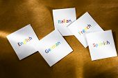 Cards With Different Languages