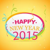 vector new year background of new year 2015 with confetti