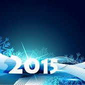 vector attractive background of new year with shiny star and snowflakes