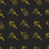Vector background for construction tools