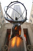 Atlas statue by Lee Lawrie in front of Rockefeller Center in midtown Manhattan
