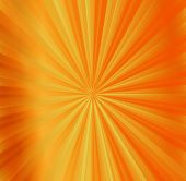 Hot rays abstract summer orange background