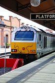 Class 67 Loco alongside platform, Birmingham.