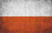 Abstract Mosaic Flag of Poland