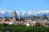 Guadix town and mountains.