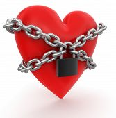 Heart and lock (clipping path included)