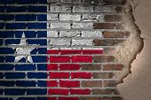 picture of texans  - Dark brick wall texture with plaster  - JPG