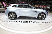 Bangkok - November 28:side Of  Subaru Viziv Concept Car On Display At The Motor Expo 2014 On Novembe