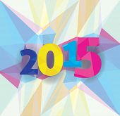 New Year background 2015 abstract image.