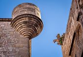Details View Of Reial Major Palace In Barcelona, Catalonia, Spain
