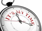It Is My Time Concept Clock