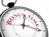 Bonus Time Concept Clock