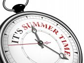 It Is Summer Time Concept Clock