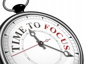 Time To Focus Concept Clock