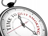 Time To Quit Smoking Concept Clock