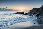 Hemmick Beach In Cornwall
