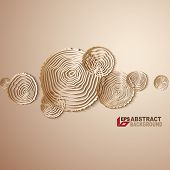 Paper design. Abstract tree rings background.