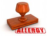 Rubber Stamp allergy  (clipping path included)