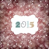 2015 New Year Background with Stars