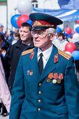 Elderly major-veteran of World War II