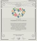 Wedding card flat. Wedding Card Invitation in Vector