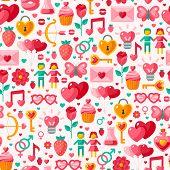 Cute Valentine seamless pattern.