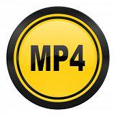 mp4 icon, yellow logo