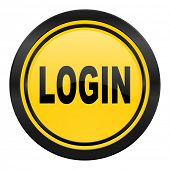 login icon, yellow logo