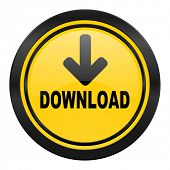 download icon, yellow logo
