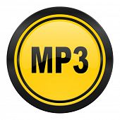 mp3 icon, yellow logo