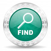 find green icon, christmas button