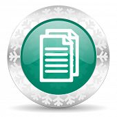 document green icon, christmas button, pages sign