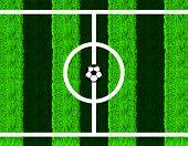 Soccer ball in center field