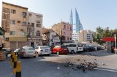 Living Houses And Bahrain World Trade Center In Manama