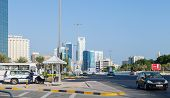 Police Car On The Srtreet Of Manama City, Bahrain